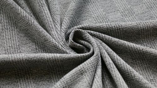 JERSEY FABRIC CHECK DESIGN GREY /& BLACK