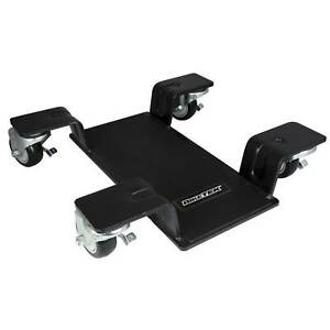 Motorcycle Center Stand Move Dolly with 360 Degree Casters for Workshop Display Room and Home Garage