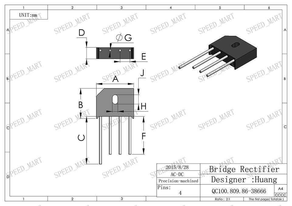5 pcs kbu810 bridge rectifier gleichrichter 1000v ac