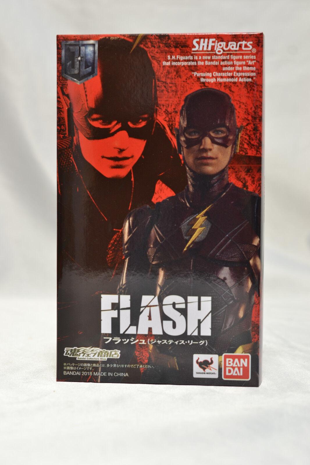 Bandai Premium S.H. Figuarts Flash De Dc Liga De La Justicia Nuevo en la acción