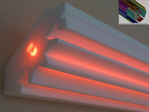 "Stuckleiste Stuckprofil Zierprofil LED Beleuchtung 6 Meter+2 Innenecken/""Henning/"""