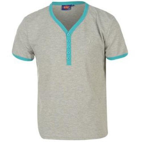 BNWT Ragazzi Taglia//età 7-8 Lee Cooper T-Shirt Top Nero Blu Grigio Next Day Post