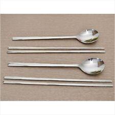 2 Set Korean Chopstick&Spoon Stainless Steel Chopsticks High Quality Basic