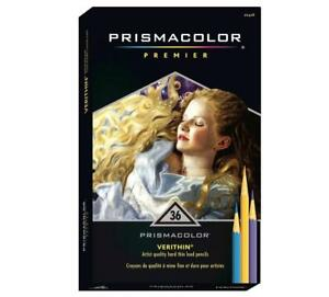 Prismacolor-Premier-Verithin-Colored-Pencils-Thin-Lead-36-Color-Set-SEALED
