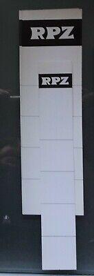 5 +1 Einsteck - Rückenschilder Für Ordner Von Rpz Unbenutzt