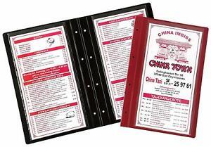 Flexible Extensible Menu/boissons Carte/pliante Carte Avec Quatre Trous-tränkekarte/klappkarte Mit Vier Bohrungen Fr-fr Afficher Le Titre D'origine
