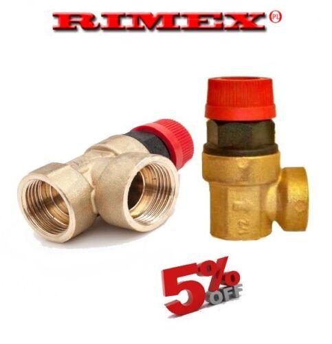 """Sicurezza della caldaia valvola limitatrice di pressione 1//2/""""FxF BSP VARIE CAMPAGNE 4 BAR"""