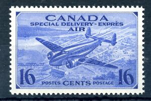 Weeda-Canada-CE1-VF-MNH-16c-bright-ultramarine-Special-Delivery-Airmail-CV-5-25
