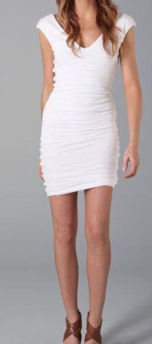 Velvet By Graham /& Spencer White Dress V-neck Short Sleeve Size Medium USA!