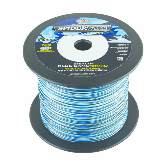 Spiderwire Stealth bluee Camo BRAID  15LB (6.8kg) .22mm 2743 m 3000 Yds  brand outlet