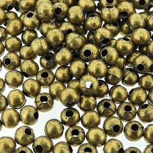 Spacer-Beads-Jewelry-Making-Round-Beads-4mm-200-pcs-Antique-Bronze-FNSP0471r
