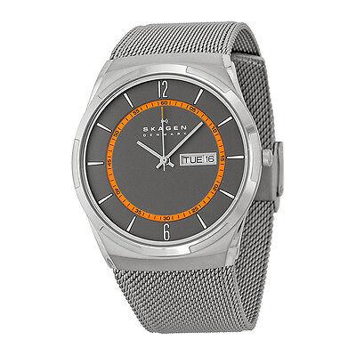 Skagen Active Grey Dial Grey Mesh Mens Watch SKW6007
