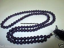 Amethyst Japa Mala Gemstone Prayer Meditation Concentration Chakra Balancing A++