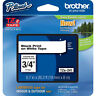 "Brother TZe241 3/4"" black on white ptouch label tape PT2030 PT2730 PT18R PT1400"