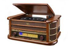 Dual NR 4 Nostalgie Musikanlage,Plattenspieler,Kassette,FM,USB,CD,Direkt Kopie