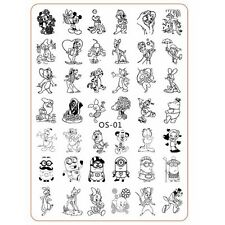 Nail Art Template Cartoon Characters Mouse Duck Nails Stamping Templates OS01