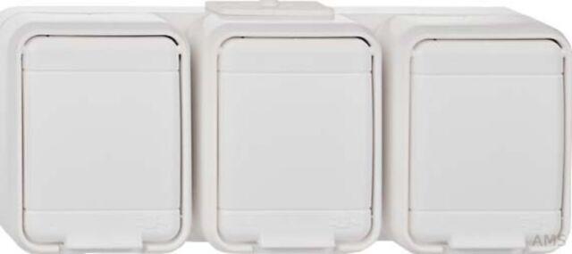 Elso Sockets 3-fach waagerech T Aqua Top Light Grey 445809