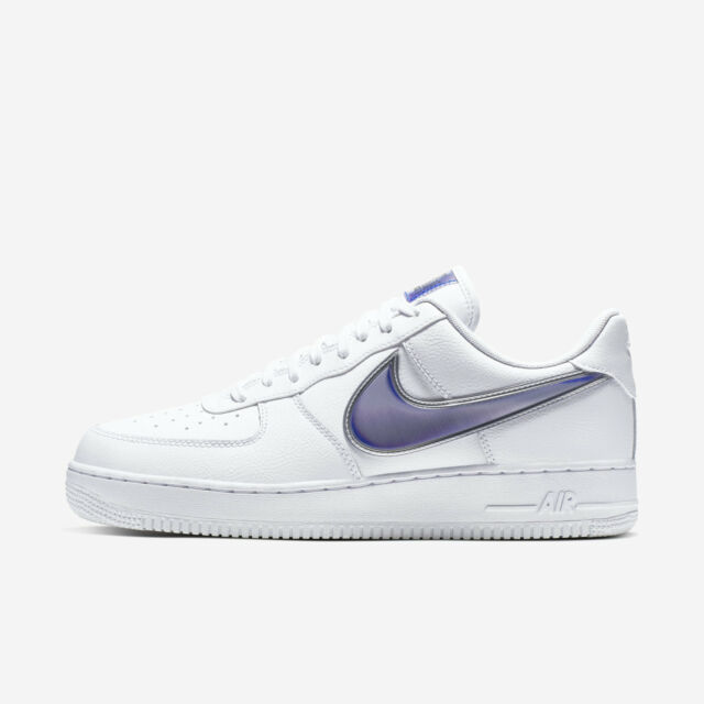 sale retailer ae2a8 eddc1 Nike Air Force 1 '07 LV8 3 [AO2441-101] Men Casual Shoes Oversized Swoosh  White