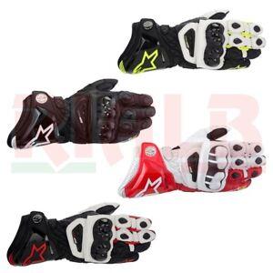 Guanti-Moto-in-Pelle-Sportivi-da-Pista-Alpinestars-GP-PRO-Gloves-con-Protezioni