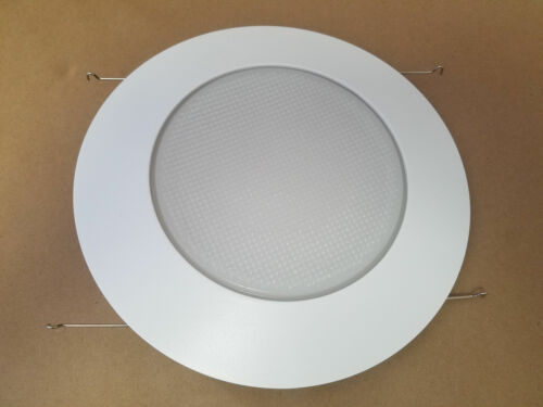 """6/"""" INCH RECESSED CAN LIGHT SHOWER TRIM FROSTED GLASS ALBALITE LENS"""