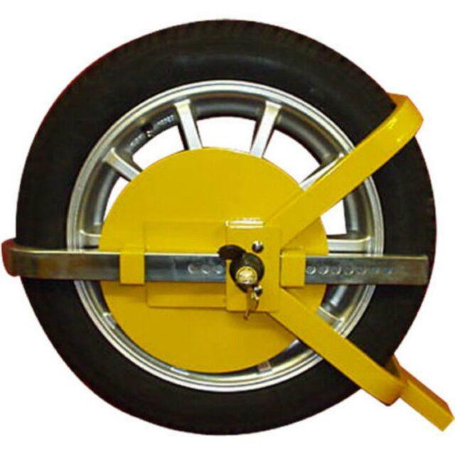 "Heavy Duty 13"" -15"" Steel Car Van Wheel Clamp Safety Lock for caravan Trailer"
