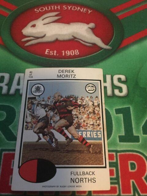 1975 Scanlens Rugby League Card No 82  Derek Moritz North Sydney