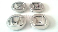 SET 4x69mm Honda Alloy SILVER Wheel Center Hub Caps ACCORD CIVIC TYPE R etc