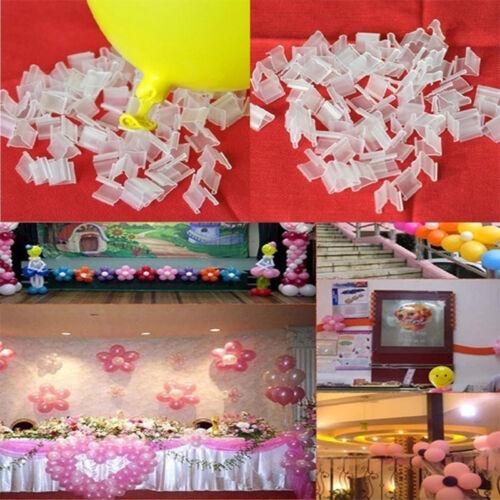 100Pcs//Lot V H Shape Balloons Sealing Clip Ballon Buttons Clips Party Supplies