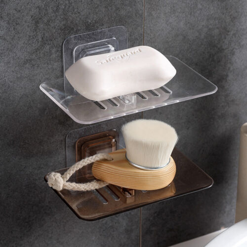 Wall Mounted Bathroom Popular Adsortable Soap Dish Kitchen Crystal Soap Rack