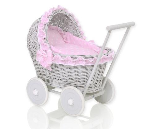 5 Bezugfarben Korb Puppenwagen Birte Farbe grau Puppen & Zubehör Puppenwagen