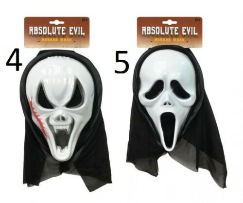 Scary Scream Ghost Face Mask Halloween Cosplay Props Scary Horror Mask Accessory