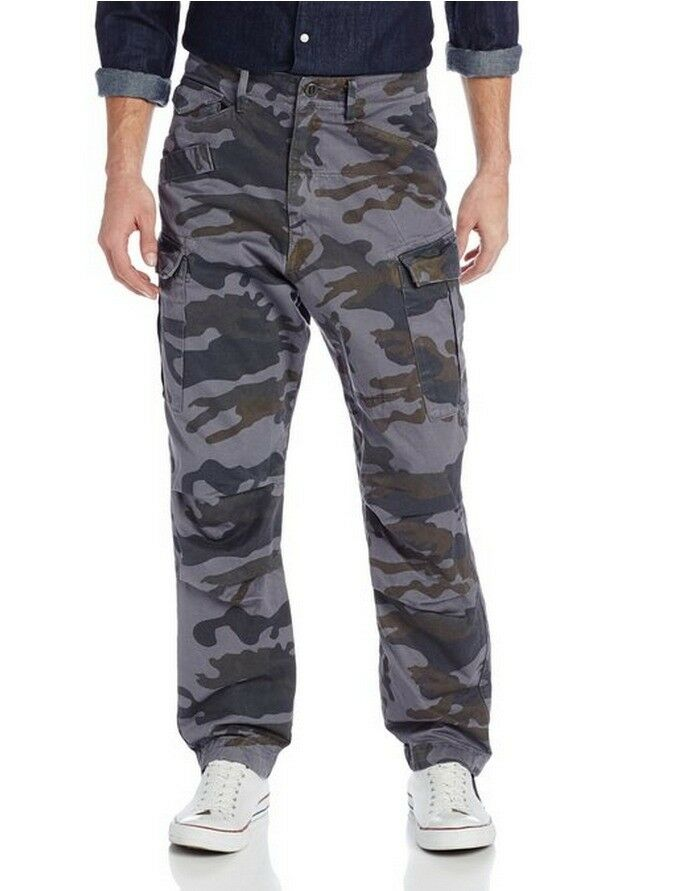 G Star Rovic Extra Loose Tapered Camo Cargo Pant DK in Heron W36  L32  BNWT