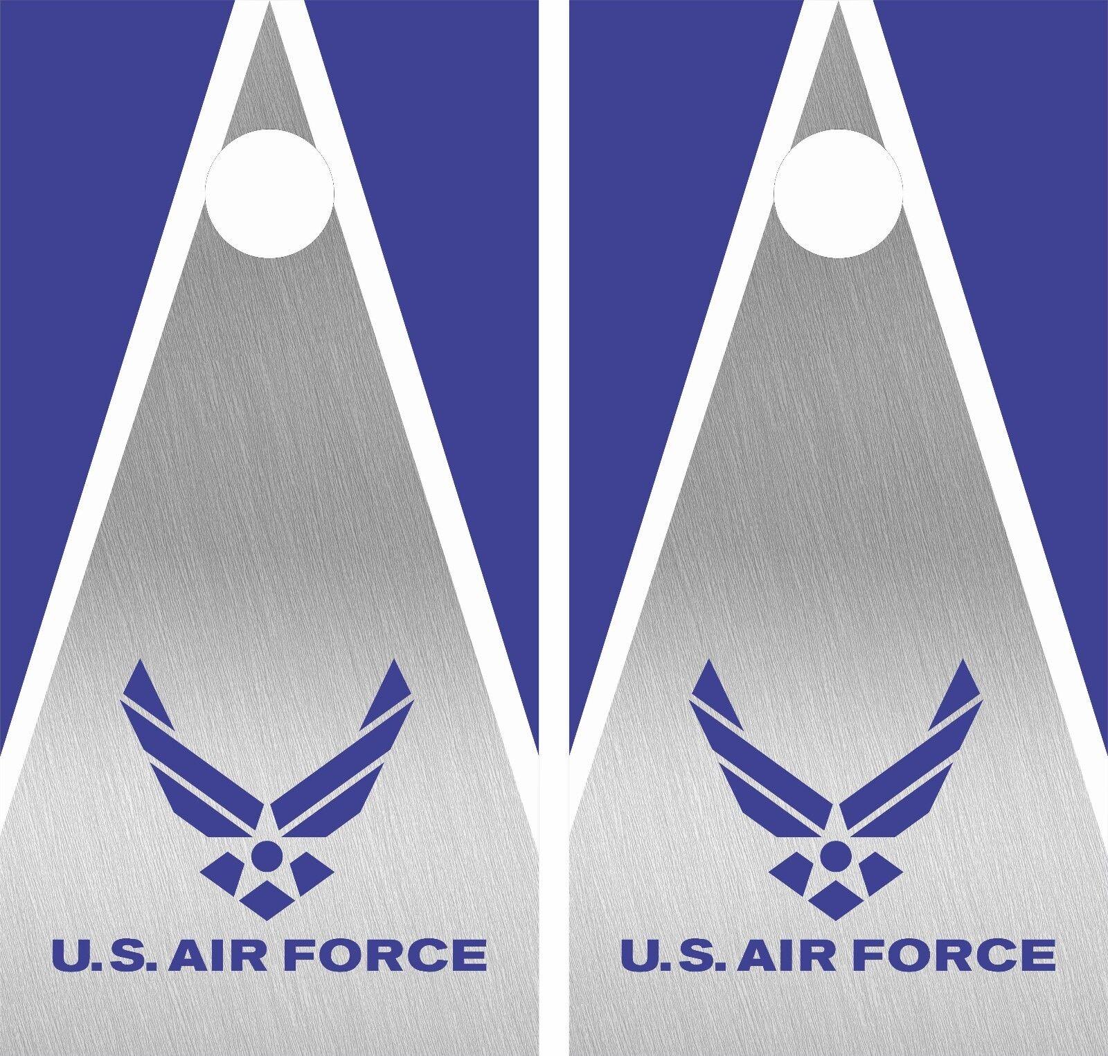 US AIR FORCE .Cornhole Board Game Decal Wraps USA High Quality Image bag 3M