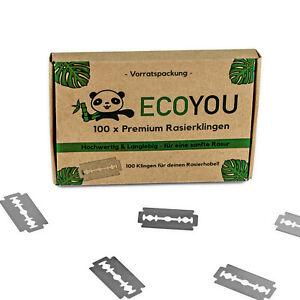 EcoYou-Rasierklingen-100er-Set-Vorratspackung-Ersatzklingen-Klingen-rostfrei