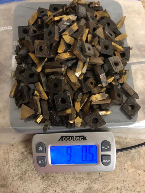 Carbide Scrap, 9 pounds Used Carbide Inserts.