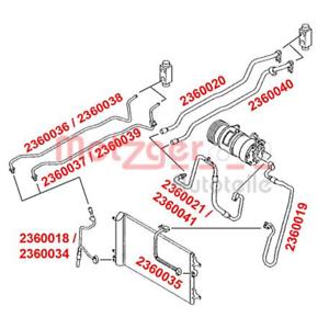 Haute pression//basse pression tuyau air conditionné-Boucher 2360041