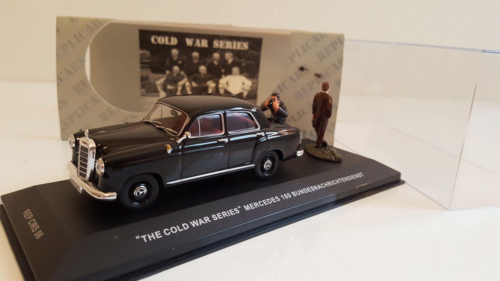 Ixo   Replivoitures  Cold War  Series  - Mercedes 180 Bundesnachrichtendienst (1 43)  pas cher en ligne