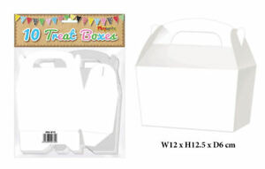10-White-Treat-Boxes-Small-Cupcake-Food-Loot-Cardboard-Gift