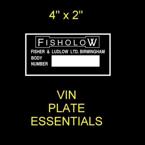 Riley Elf Wolseley Hornet fisholow BMC carrosserie châssis vin-tags-r-us