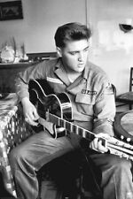 ELVIS PRESLEY - ARMY GUITAR POSTER - 24x36 SHRINK WRAPPED - YOUNG MUSIC 20844