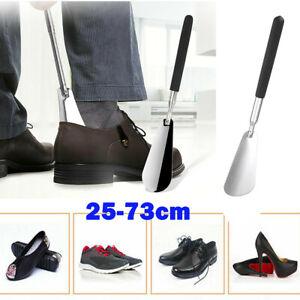 "Extra Long Handled Metal Handle Shoe Horn Steel 25"" Shoehorn Horns Metal Handle"