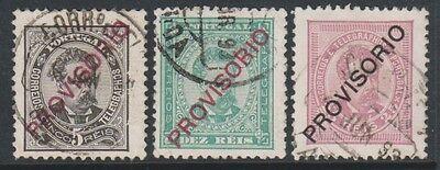 291 Vertrieb Von QualitäTssicherung Portugal Optd Provisorio 1892 / 3,5r,10r & 25r Sg 284/5 G / U