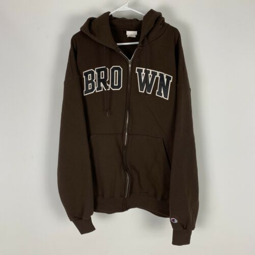 Brown University Champion Full Zip Hoodie Hooded S