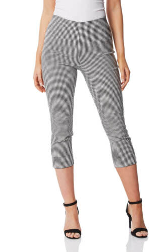 Gingham Cropped Stretch Trouser