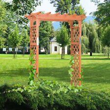7 Ft Outdoor Garden Yard Wooden High Arbor Arch Archway Trellis Plant  Pergola US