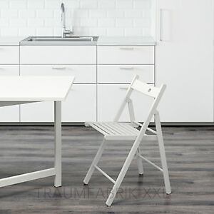 Detalles de Ikea Terje Silla Plegable Blanco Madera Maciza Diseño de Cocina  Nuevo