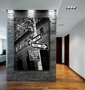 Details About Wall Street Sign New York City Canvas Fine Art Poster Print Home Decor