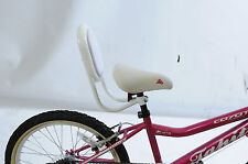 SAFER BIKE OR TRIKE RIDING FOR YOUR CHILD WITH SADDLE BACK REST / SUPPORT WHITE