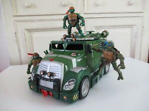 Jouet-Camion-Tortue-Ninja-Vendu-Avec-3-Figurines