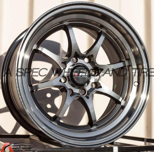 1 25 Machine Gunmetal Wheel 15x8 F1R F03 4x100//114.3